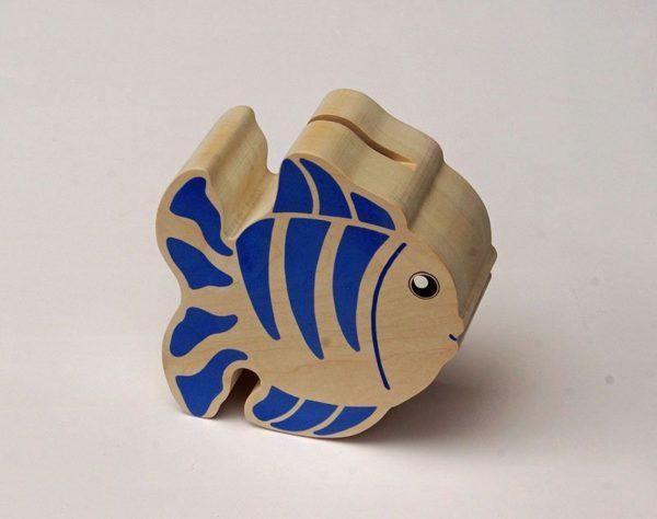 Tirelire Poisson bleu