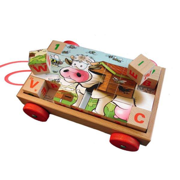 Chariot Cubes Vache