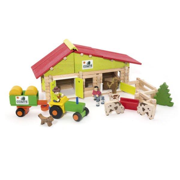 Ferme avec tracteur et animaux