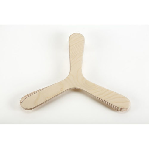 Boomerang tripale naturel